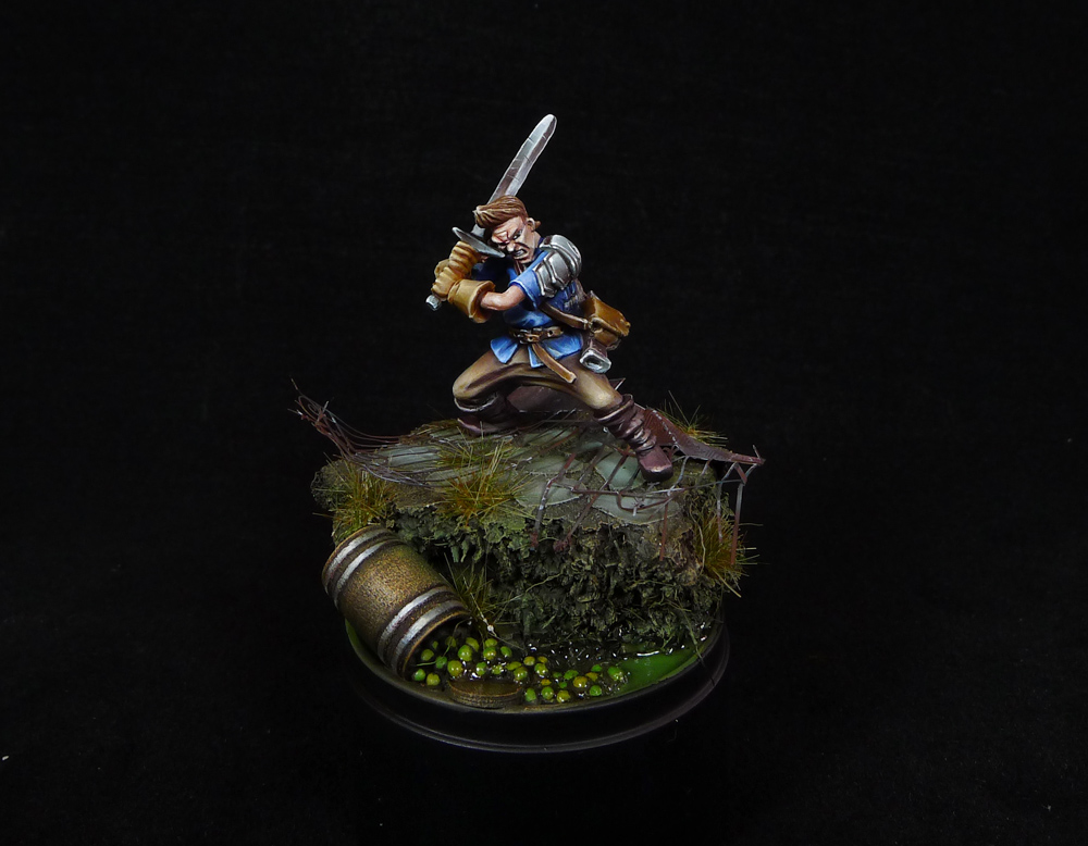 myth mercs fighter miniature